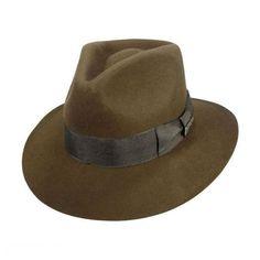 Indiana Jones Officially Licensed Wool Felt Fedora Hat All Fedoras Mens  Dress Hats 63dc4c12a7b3