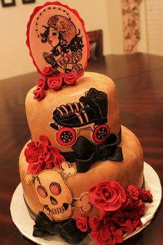 Layers of Love: Roller Derby Cake
