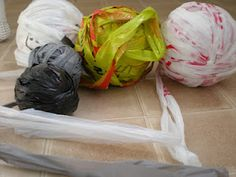 DIY Plarn tutorial (how to make plastic bag yarn).