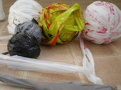DIY Plarn tutorial (how to make plastic bag yarn).