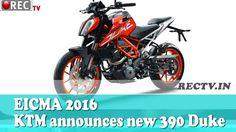 EICMA 2016 KTM announces new 390 Duke || Latest automobile news updates