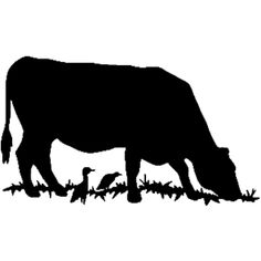 Cow And Calf Vector Silhouette Download Cow Silhouette Animal