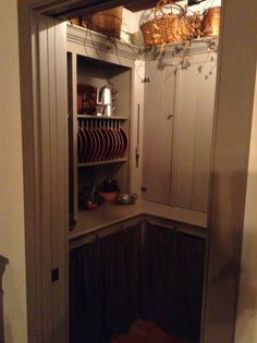 Pantry:  Like the curtain attachment idea