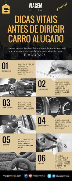 Infográfico - Dicas VITAIS antes de Dirigir um Carro Augado