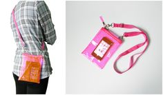 Small Neon Pink Clear Transparent Iphone Crossbody Bag   Please visit us at www.etsy.com/shop/Trixiesky   to see more of our wonderful products.