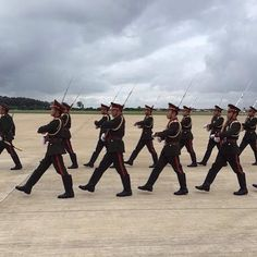 Guards marching on the airport tarmac in preparation for a visiting head of state. Brilliant shot via the Australian embassy in Laos. #ASEAN #Vientiane #laos #nofilter #instalife #instatravel   Eat Drink Laos http://eatdrinklaos.com