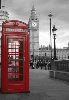 Iconic shot...Red phone booth ~ I'd return to London in a heartbeat