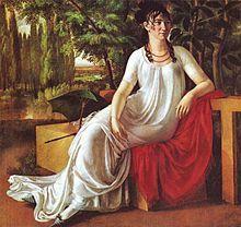 J. F. Cottas Ehefrau Wilhelmine (Porträt von Christian Gottlieb Schick, 1802. Stuttgart, Staatsgalerie