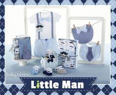 Baby Aspen Spring 2015 New Arrivals | Little Man Collection | Little Man Themed Baby Gifts | Mustache | Bowtie | Gingham | Seersucker