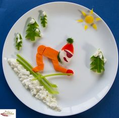 Fun food for picky kids snow Skier