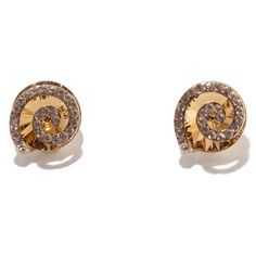 Simple Coloured Crystal Swirl Clip-On Earrings (£27) ❤ liked on Polyvore featuring jewelry, earrings, clear crystal earrings, crystal stud earrings, clip on stud earrings, blue clip on earrings and swirl earrings