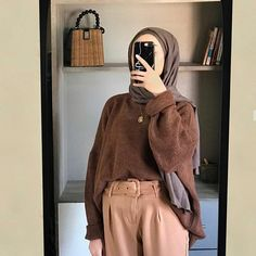 Muslim Fashion, Hijab Fashion, Fashion Outfits, Womens Fashion, Ootd Hijab, Hijab Outfit, Ootd Spring, Casual Outfits, Cute Outfits