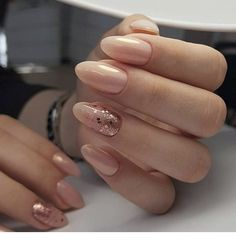 pink nails with glitter \ pink nails . pink nails with glitter accent . pink nails with rhinestones . pink nails with glitter Red Wedding Nails, Simple Wedding Nails, Wedding Nails Design, Oval Nails, Pink Nails, Glitter Nails, Vernis Rose Gold, Cute Nails, Pretty Nails