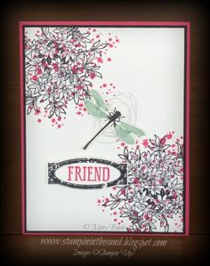Stampin' in the Sand: Super Simple Sunday: Awesomely  Artistic for the Pals. Stampin Up dragonfly