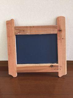 古材フレーム/黒板塗装