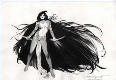 Gamora by Esteban Maroto and Jeff De Los Santos  Comic Art
