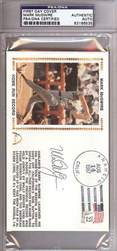 Mark McGwire Autographed First Day Cover PSA/DNA #83186535