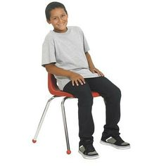 """6 Pack-16"""" Stack Chair Chrome Legs"""