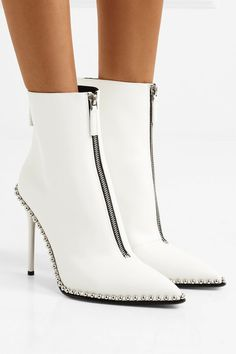 689529bdd668 Alexander Wang - Eri embellished leather ankle boots