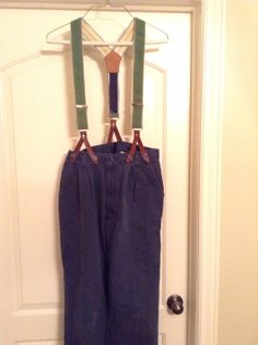 Mens 32/34 pants with button suspenders pioneer by CuteMormonStuff, $15.00