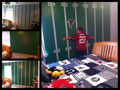 Football Wall Murals football field wall kit 2 small kitliveoakpro on etsy, $42.00