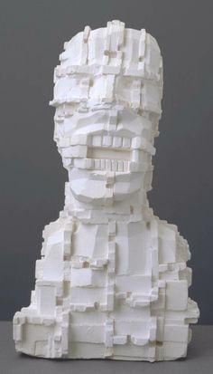 Sir Eduardo Paolozzi, Mondrian Head maquette for bronze in THW collection? Sculpture Head, Modern Sculpture, Abstract Sculpture, Stone Sculpture, 3d Portrait, Portraits, Eduardo Paolozzi, James Rosenquist, Art Alevel