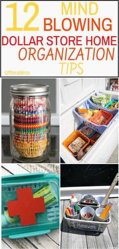 Need to organize stuff around your home on a budget. These creative dollar store organization hacks are solution to get your home organized on a budget. Small Bathroom Organization, Household Organization, Home Organization Hacks, Organizing Tips, Organizing Your Home, Cleaning Tips, Dollar Store Crafts, Dollar Stores, Sink Organizer