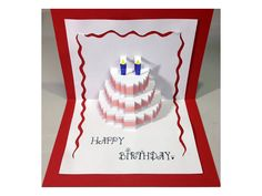 Happy Birthday Cake - Pop-Up Card Tutorial - YouTube