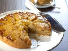 This vegan pineapple upside down cake is made with a moist coconut milk batter and topped with tender baked pineapple and a sweet brown sugar glaze.