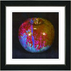 """Red Magic Apple"" by Zhee Singer Framed Fine Art Giclee Painting Print 