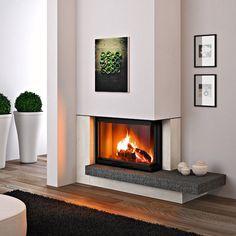 Manteau de cheminée contemporain / acier / en pierre / d'angle RIMINI MCZ