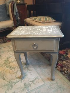 Just finished stencilling and as chalk paint French linen