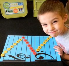 use A as the landmark to create three musical caterpillars. Learning to read notes has never been so fun!