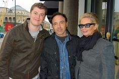 Nils and Amy with a fan in Norway.