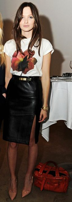 Leathery chic
