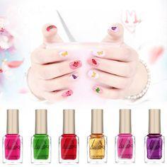Smarter Shopping, Better Living! Aliexpress.com Cheap Nail Polish, Nail Polish Stickers, Nail Polish Bottles, Nail Polish Art, Gel Nail Art, Nail Decals, Nail Art Diy, Gel Nails, Manicure