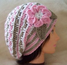 Flower Beret Free Crochet Pattern