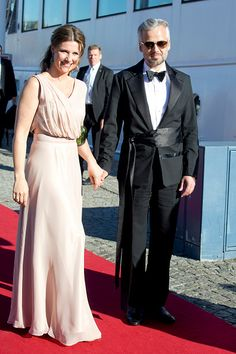 Princess Martha Louise of Norway, and husband Ari Behn arrive to board the S/S Stockholm to travel to a private dinner on the eve of The Wedding of Prince Carl Philip of Sweden, and Sofia Hellqvist, on June 12th, 2015 in Stockholm, Sweden