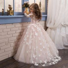 http://babyclothes.fashiongarments.biz/  Lovely Pink Butterfly Girl Dresses 2017 Wedding Children Dress Princess Fashion Beauty Pageant Dress Long Flower Girl Dress Gown, http://babyclothes.fashiongarments.biz/products/lovely-pink-butterfly-girl-dresses-2017-wedding-children-dress-princess-fashion-beauty-pageant-dress-long-flower-girl-dress-gown/, 		 	 ,  				 		  		1. All the dresses we  made will be a little different from the original picture you see on the website , and the size will be…