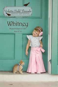 Whitney Pants Sewing Pattern- LOVE this outfit! So stinkin' cute!