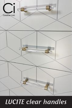 Acrylic/Lucite handles for your customised IKEA hack.