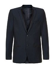 Navy (Blue) Navy Tailored Piped Jacket  | 289656341 | New Look