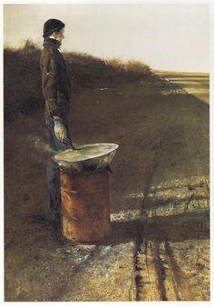 Andrew Wyeth, Roasting Chestnuts