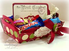 Chocolate box - template is from Creations by AR, makes a perfect gift too pop onto table - all SU