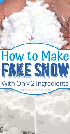 Learn How to make fake snow with only two ingredients. The perfect winter sensory activity for kid. Winter Crafts For Toddlers, Winter Activities For Kids, Snow Activities, Toddler Activities, Preschool Science, Preschool Activities, Nursery Activities, Science Crafts, Science Experiments Kids