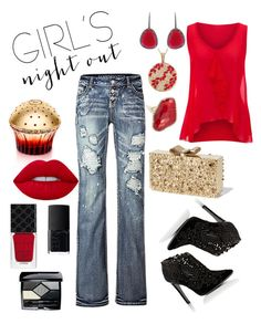 """""""Girls' Night?  Do It Right!"""" by shoultesshark on Polyvore featuring jon & anna, Alberta Ferretti, Anne Sisteron, R.H. Macy's & Co., Christina Debs, House of Sillage, Gucci, NARS Cosmetics and Christian Dior"""