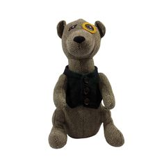 This doorstop has a meerkat design. The meerkat has been finished with a monocle over one eye and a green tartan waistcoat. The meerkat has a herringbone pattern giving it the perfect finishing touch. | eBay!
