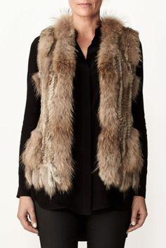 54bc8c93a3 Arielle Rabbit Fur Vest Knitted Women Designer Womens Ladies Coat Waistcoat  Real