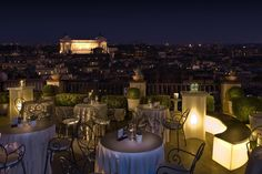 The illuminating view at InterContinental de la Ville Rome hotel