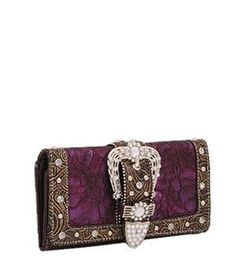 Buckle Wallet w/Rhinestone & Studs-PURPLE by ANYTHINGEVERYTHINGSHOP. $19.99. CHECK OUT MY AMAZON STORE FOR DIFFERENT COLORS AND DIFFERENT STYLES: LUCKYIMPORT2527